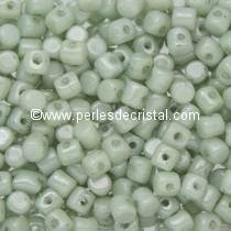 5GR PERLES MINOS® PAR PUCA® 2.5X3MM COLORIS OPAQUE LIGHT GREEN CERAMIC LOOK 03000/14457