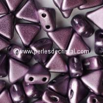 10GR KHEOPS® BY PUCA® BEADS 6MM - TRIANGLE GLASS COLOURS METALLIC MAT DARK PLUM 23980/79083