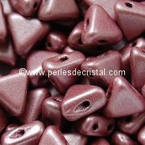 10GR KHEOPS® PAR PUCA® 6MM PERLES EN VERRE TRIANGLE COLORIS METALLIC MAT PINK 23980/79086