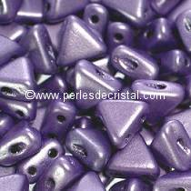 10GR KHEOPS® BY PUCA® BEADS 6MM - TRIANGLE GLASS COLOURS METALLIC MAT PURPLE 23980/79021