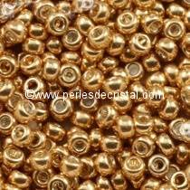 10gr SEED BEADS MIYUKI 11/0 - 2MM COLOURS GALVANIZED GOLD - 1052
