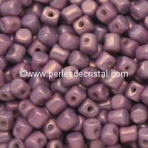 5GR PERLES MINOS® PAR PUCA® 2.5X3MM COLORIS OPAQUE AMETHYST/GOLD CERAMIC LOOK 03000/15726