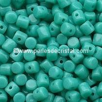 5GR BEADS MINOS® BY PUCA® 2.5X3MM COLOURS OPAQUE GREEN TURQUOISE 63130
