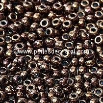 10gr SEED BEADS MIYUKI 11/0 - 2MM COLOURS METALLIC OPAQUE BRONZE 457B - DARK BRONZE