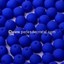 50 SMOOTH ROUND BEADS 3MM BLUE NEON MAT 02010/25126 NEON OCEAN BLUE
