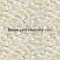 50 SMOOTH ROUND BEADS 3MM CRYSTAL AB 00030/28701