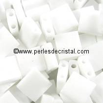 5GR PERLES TILAS MIYUKI 5X5MM OPAQUE WHITE TL-0402 / BLANC