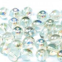 50 PERLES RONDES LISSES 4MM CRYSTAL BLUE RAINBOW 00030/98538