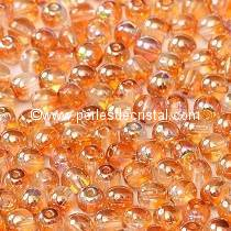 50 PERLES RONDES LISSES 4MM CRYSTAL ORANGE RAINBOW 00030/98535