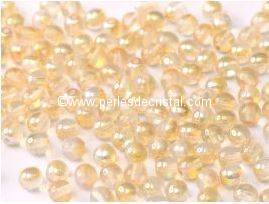 50 PERLES RONDES LISSES 4MM CRYSTAL YELLOW RAINBOW 00030/98531