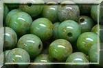 50 SMOOTH ROUND BEADS 4MM OPAQUE GREEN TURQUOISE PICASSO 63130/43400