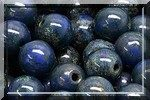 50 PERLES RONDES LISSES 4MM OPAQUE SAPPHIRE TRAVERTIN DARK 33050/86805