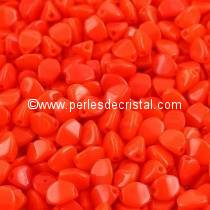 50 PINCH 5X3MM EN VERRE COLORIS OPAQUE LIGHT CORAL 93180