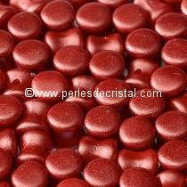 50 PELLETS / DIABOLO 4X6MM GLASS COLOURS PASTEL DARK CORAL - 02010/25010