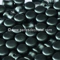 50 PELLETS / DIABOLO 4X6MM GLASS COLOURS COLOURS PASTEL DARK GREY HEMATITE - 02010/25037