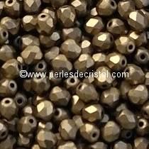 50 FACETTES 4MM CRISTAL VERRE DE BOHEME COLORIS GOLD BRONZE MAT 23980/84100