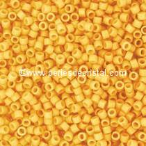 5gr SEED BEADS MIYUKI DELICA 11/0 - 2MM COLOURS DURACOAT OPAQUE BANANA DB2102
