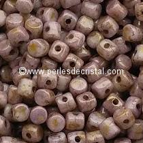 5GR PERLES MINOS® PAR PUCA® 2.5X3MM COLORIS OPAQUE ROSE/GOLD CERAMIC LOOK 03000/15695