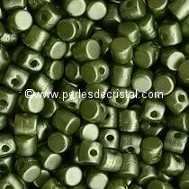 5GR BEADS MINOS® BY PUCA® 2.5X3MM COLOURS PASTEL OLIVINE 02010/25034