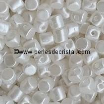 5GR BEADS MINOS® BY PUCA® 2.5X3MM COLOURS PASTEL WHITE 02010/25001