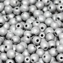 50 SMOOTH ROUND BEADS 3MM CRYSTAL LABRADOR FULL MATTED 00030/27070