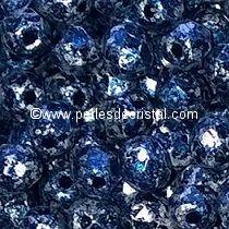50 FACETTES 3MM CRISTAL VERRE DE BOHEME COLORIS TWEEDY BLUE 23980/45706 - BLEU