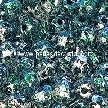 50 BOHEMIAN GLASS FIRE POLISHED FACETED ROUND BEADS 3MM COLOURS TWEEDY GREEN 23980/45707 - VERT