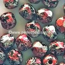 50 BOHEMIAN GLASS FIRE POLISHED FACETED ROUND BEADS 3MM COLOURS TWEEDY RED 23980/45705 - ROUGE