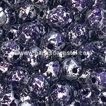 50 BOHEMIAN GLASS FIRE POLISHED FACETED ROUND BEADS 3MM COLOURS TWEEDY VIOLET 23980/45710 - PURPLE