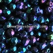 50 BOHEMIAN GLASS FIRE POLISHED FACETED ROUND BEADS 4MM COLOURS BLUE IRIS 23980/21435