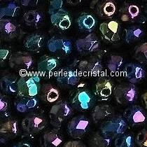 50 FACETTES 4MM CRISTAL VERRE DE BOHEME COLORIS RAINBOW IRIS 23980/21402