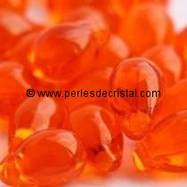 25 DROPS BOHEMIAN 6X9MM GLASS COLOURS HYACINTH 90030 - ORANGE