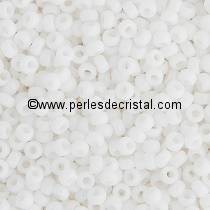 10gr SEED BEADS MIYUKI 11/0 - 2MM COLOURS JOPAQUE WHITE 402