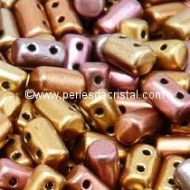 10GR RULLA 3X5MM EN VERRE COLORIS YELLOW GOLD METALLIC IRIS 00030/01620