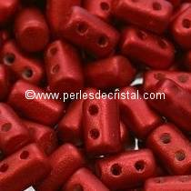 10GR RULLA 3X5MM EN VERRE COLORIS RED METALLIC MAT 03000/01890 - ROUGE