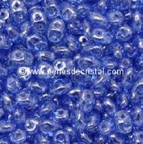 10GR MINIDUO® 2X4MM GLASS COLOURS SAPPHIRE LUSTER 30060/14400