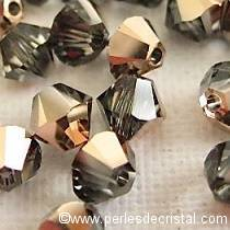 50 BICONES 4MM CRISTAL SWAROVSKI COLOURS CRYSTAL ROSE GOLD #5328