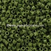 5gr SEED BEADS MIYUKI DELICA 11/0 - 2MM COLOURS OPAQUE AVOCADO DB1135 - GREEN