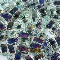 5GR PERLES HALF TILAS MIYUKI COLORIS CRYSTAL BLUE RAINBOW 55025