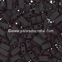 5GR BEADS HALF TILAS MIYUKI COLOURS JET MATTED HTL0401 - BLACK MATTED