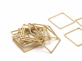 BRACKET / CONNECTOR SQUARE BRASS GOLD 20MM #23
