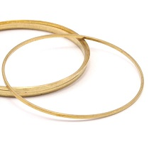 BRACKET / CONNECTOR ROUND BRASS GOLD 50MM #21