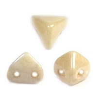 10GR BEADS Super-KhéopS® PAR PUCA® 6X6MM COLOURS OPAQUE BEIGE CERAMIC LOOK 03000/14413