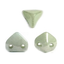 10GR BEADS Super-KhéopS® PAR PUCA® 6X6MM COLOR OPAQUE LIGHT GREEN CERAMIC LOOK 03000/14457
