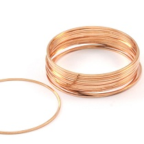 BRACKET / CONNECTOR BRASS ROUND PINK GOLD 40MM #28