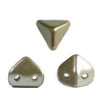 10GR PERLES Super-KhéopS® PAR PUCA® 6X6MM COLORIS PASTEL LIGHT BROWN COCO 02010/25005