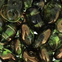 10GR SUPERDUO 2.5X5MM EN VERRE COLORIS OLIVINE SEMI BRONZE LUSTER 50230/14215