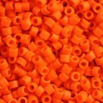 5gr SEED BEADS MIYUKI DELICA 11/0 - 2MM COLOURS OPAQUE ORANGE MATTED DB0752