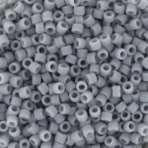 5gr SEED BEADS MIYUKI DELICA 11/0 - 2MM COLOURS OPAQUE GHOST GREY MATTED DB1589