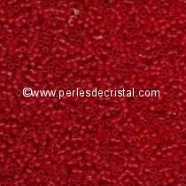 5gr SEED BEADS MIYUKI DELICA 11/0 - 2MM RED/ORANGE TRANSPARENT MATTE DB0745